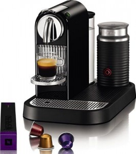 Nespresso D121-US4-BK-NE1 Espresso Maker with Aeroccino Milk Frother, Black