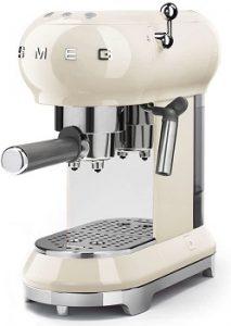 Smeg-ECF01RDUS-espresso-machine-cream-color-easy-descaling