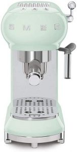 Smeg-ECF01RDUS-espresso-machine-pastel-green-heated-top-for-cup-storage