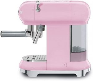 Smeg-ECF01RDUS-espresso-machine-pink-detachable-water-tank-easy-set-up